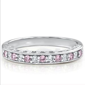 Helzberg Diamonds White & Pink Sapphire Stack Ring